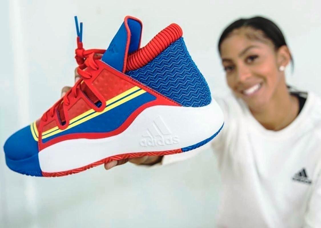 dde778d78e39b Candace Parker Kenalkan Sepatu adidas Bertema Captain Marvel -  mainbasket.com
